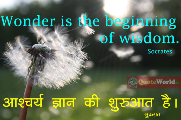 Socrates Quotes in Hindi and English