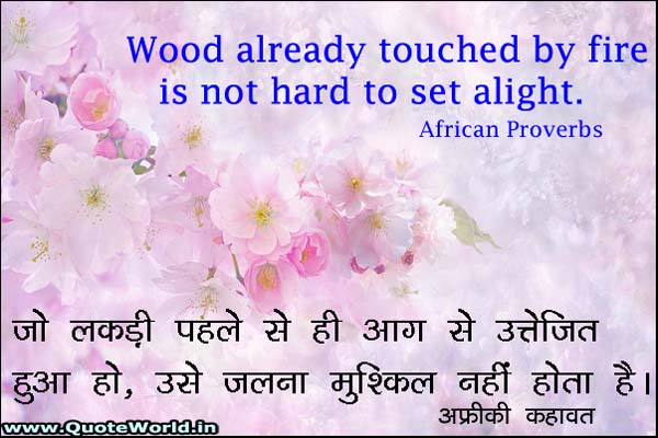 African Proverbs in Hindi and English