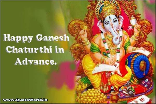 Happy Ganesh Chaturthi in advance