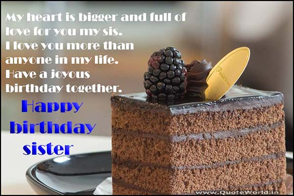 Best happy birthday wishes for SISTER images quotes sms