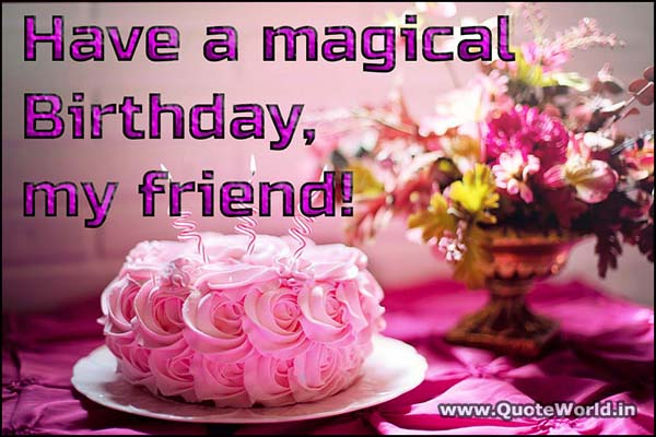 Birthday Shayari for friends in Hindi with images