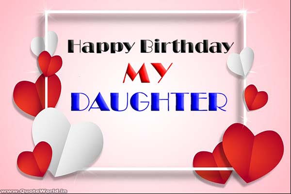happy birthday greetings card for baby girl with cake