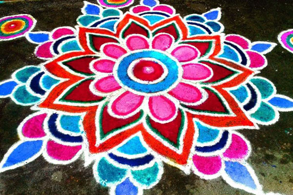 diwali rangoli simple