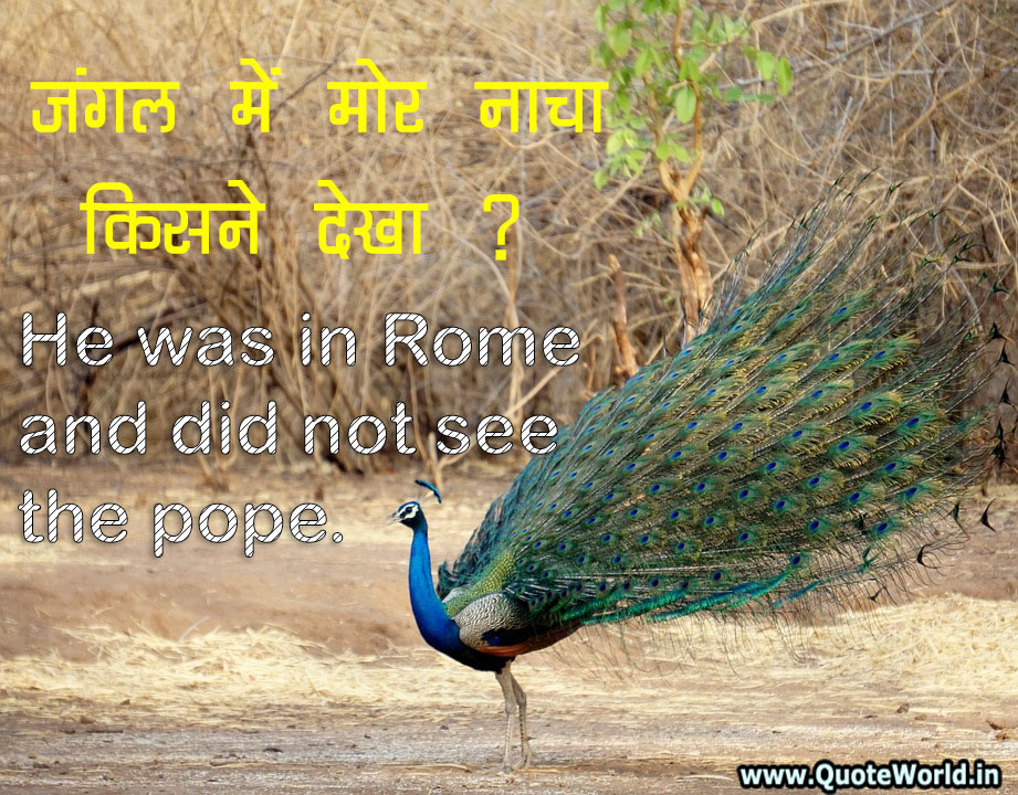 Hindi Proverbs with English Meaning