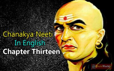 Chanakya Neeti In English - Chapter Thirteen
