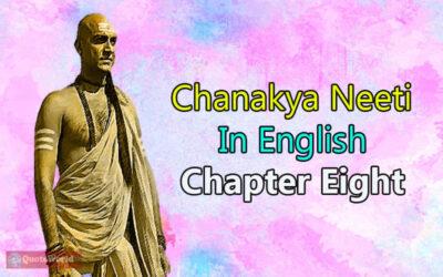 Chanakya Neeti In English - Chapter Eight