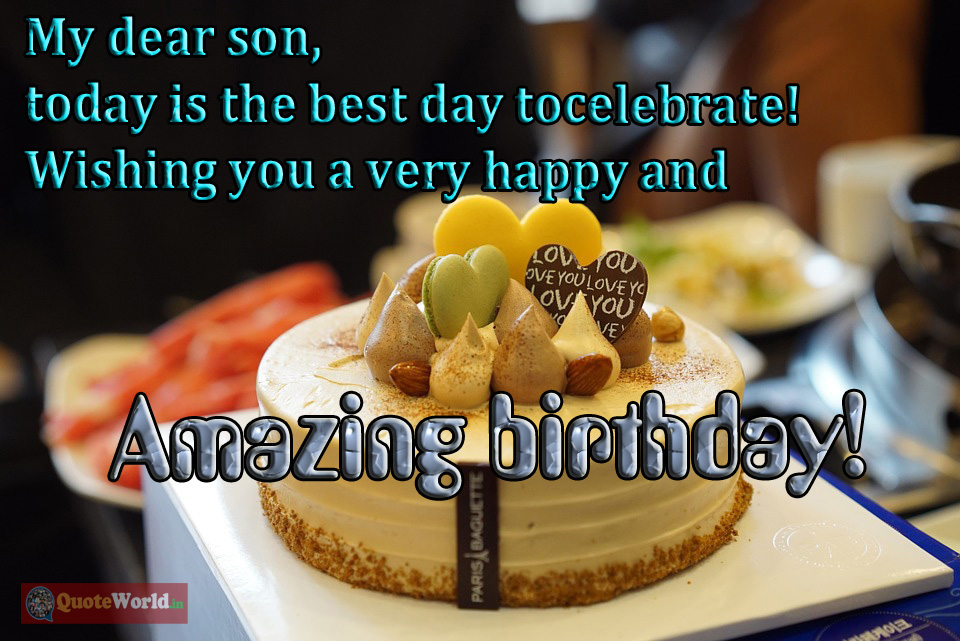 birthday status for son from mom