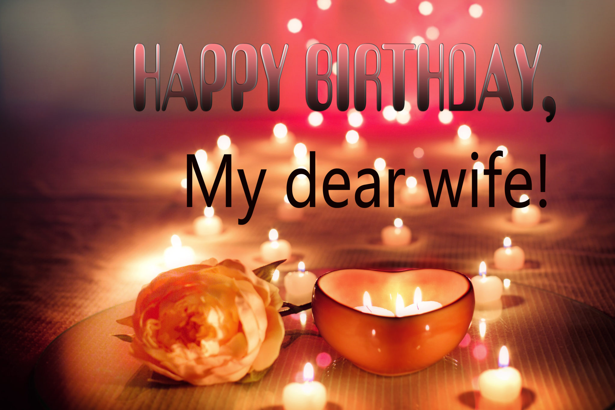Birthday wishes for wife in hindi & english