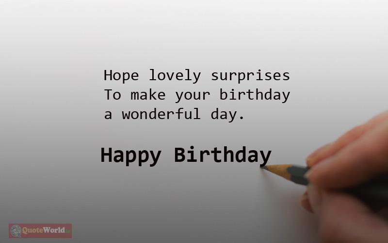 You day wishing a happy 185 Inspiring